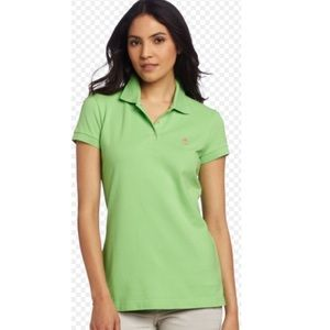 Lilly Pulitzer Island Polo Green Shirt